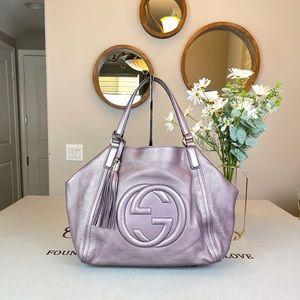 Gucci Large Leather SoHo Totes Shoulder bag